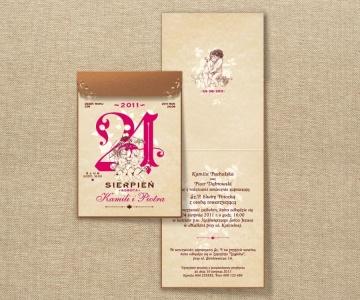 Zaproszenia ślubne W Formie Kartki Z Kalendarza Kup Online Sklep